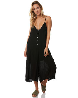 BLACK WOMENS CLOTHING TEE INK PLAYSUITS + OVERALLS - CAST44ABLK
