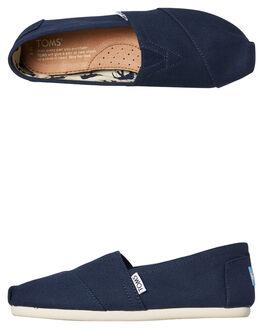 NAVY WOMENS FOOTWEAR TOMS SLIP ONS - 001001B07-NVY