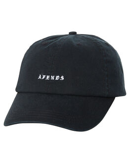 BLACK MENS ACCESSORIES AFENDS HEADWEAR - A182602BLK