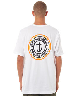 WHITE MENS CLOTHING CAPTAIN FIN CO. TEES - CT174312WHT