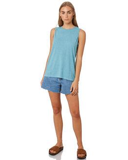 ATOLL BLUE WOMENS CLOTHING PATAGONIA SINGLETS - 52880LPAB