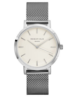 WHITE SILVER WOMENS ACCESSORIES ROSEFIELD WATCHES - MWS-M40WHISL