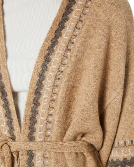 CAMEL WOMENS CLOTHING TIGERLILY KNITS + CARDIGANS - T615138CAM