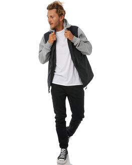 BLACK MENS CLOTHING RVCA JACKETS - R183432BLK