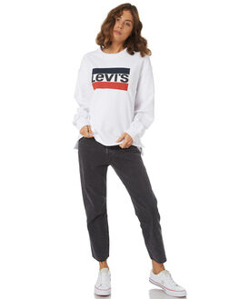 SPORT LOGO WHITE WOMENS CLOTHING LEVI'S JUMPERS - 57588-0000WHT