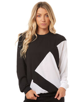 BLACK WHITE WOMENS CLOTHING ADIDAS ORIGINALS JUMPERS - BP5102BLK