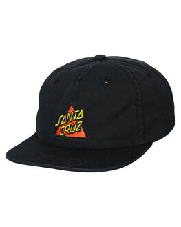 BLACK MENS ACCESSORIES SANTA CRUZ HEADWEAR - SC-MCA0586BLK