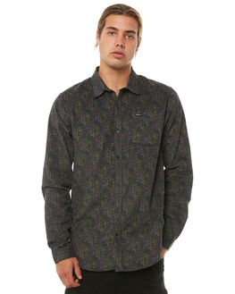 BLACK OUTLET MENS RVCA SHIRTS - R183185BLK