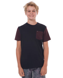 BLACK KIDS BOYS HURLEY TEES - ABTSDIPR00A21
