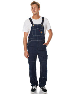 BLUE RINSED MENS CLOTHING CARHARTT JEANS - I020995-102BLU