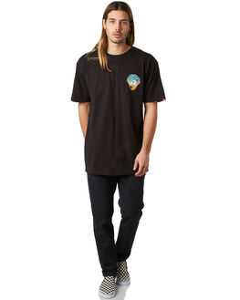 BLACK MENS CLOTHING VANS TEES - VNA3H72BLKBLK