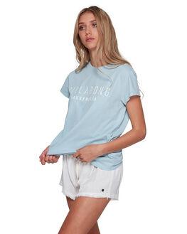 CLOUD BLUE WOMENS CLOTHING BILLABONG TEES - BB-6581010-CLB