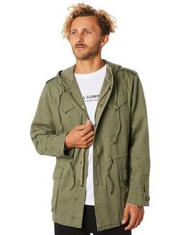 ARMY GREEN MENS CLOTHING THRILLS JACKETS - TA9-205FAMGRN