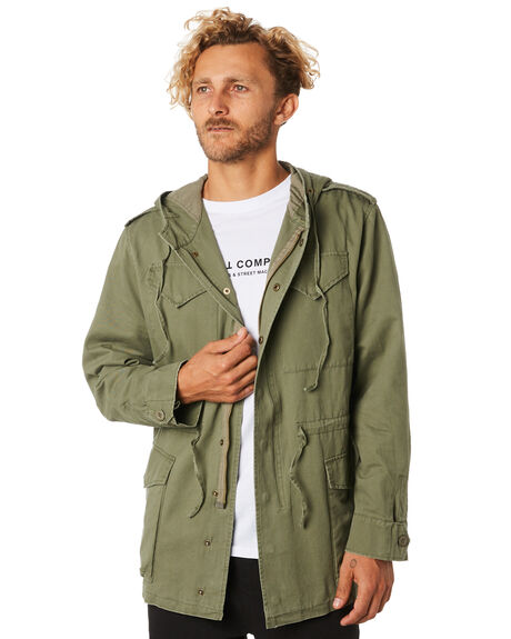 ARMY GREEN MENS CLOTHING THRILLS JACKETS - TA9-205FAMGRN