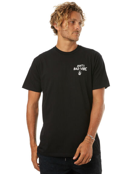 BLACK MENS CLOTHING VOLCOM TEES - A504174GBLK