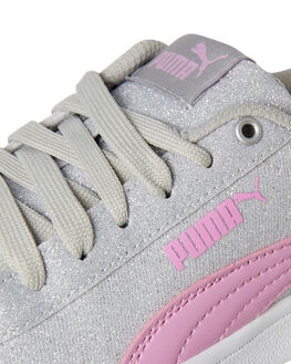 SILVER KIDS GIRLS PUMA SNEAKERS - 36763601SILV