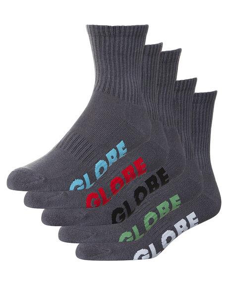 GREY MENS CLOTHING GLOBE SOCKS + UNDERWEAR - GB71029004GRY