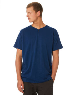 SPANISH BLUE MENS CLOTHING KATIN TEES - KNFOL03SPBLU