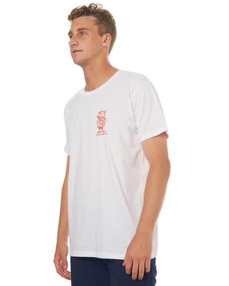 WHITE MENS CLOTHING THE LOBSTER SHANTY TEES - LUAUWHT