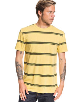 MISTED YELLOW MENS CLOTHING QUIKSILVER TEES - EQYKT03938-YHL3