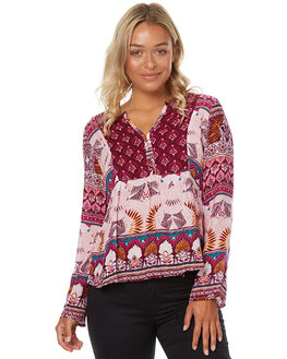 GRAPEWINE HIPPIE WOMENS CLOTHING ROXY FASHION TOPS - ERJWT03137PSF6