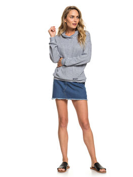 DRESS BLUE STRIPES WOMENS CLOTHING ROXY TEES - ERJKT03533-BTK3