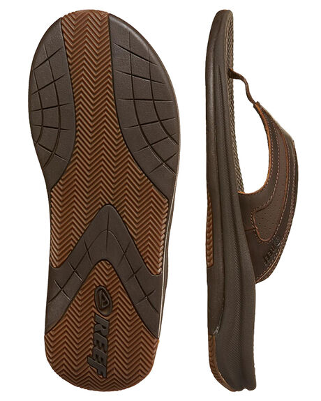 BROWN MENS FOOTWEAR REEF THONGS - A32X1BRO
