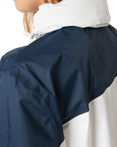 NAVY AND WHITE WOMENS CLOTHING HUFFER JACKETS - WRJA02S1601WHTNV