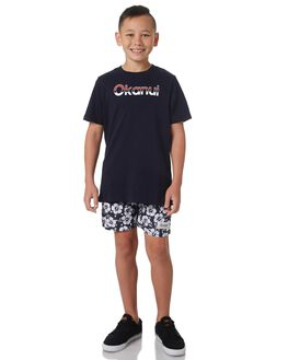 NAVY KIDS BOYS OKANUI BOARDSHORTS - OKCK1819NV