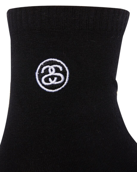 BLACK WOMENS CLOTHING STUSSY SOCKS + UNDERWEAR - ST791028BLACK