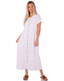 WHITE WOMENS CLOTHING SAINT HELENA DRESSES - SH18AW511-WHT