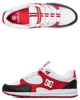 BLACK/WHITE/RED MENS FOOTWEAR DC SHOES SNEAKERS - ADYS100291-XKWR