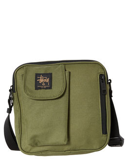 FLIGHT GREEN MENS ACCESSORIES STUSSY BAGS + BACKPACKS - ST706011FGRN