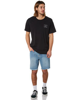 BLACK MENS CLOTHING AFENDS TEES - M183010BLK