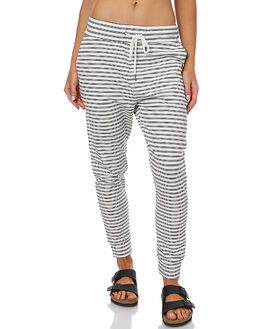 BLACK WHITE STRIPE WOMENS CLOTHING SWELL PANTS - S8161196BWS