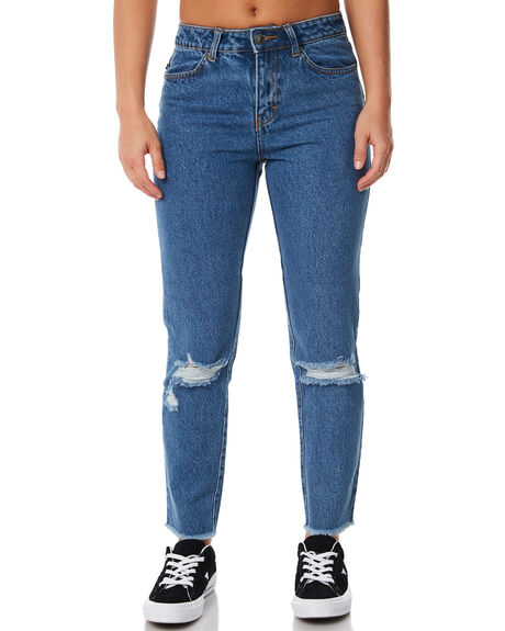 GRIND BLUE WOMENS CLOTHING RUSTY JEANS - PAL1047GDB