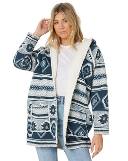NAVY AZTEC WOMENS CLOTHING O'NEILL JACKETS - 5321513NAZ