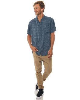 REAL TEAL VARIABLE MENS CLOTHING QUIKSILVER SHIRTS - EQYWT03649BPR6
