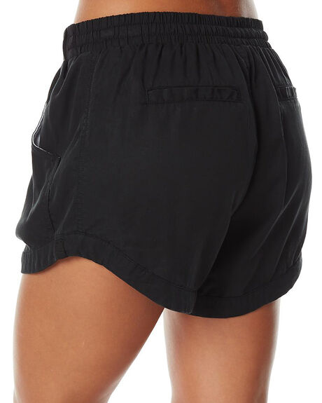 BLACK WOMENS CLOTHING RUSTY SHORTS - WKL0590BLK