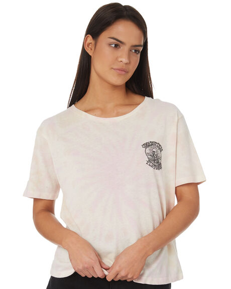 WASHED PINK WOMENS CLOTHING RVCA TEES - R282053WPNK