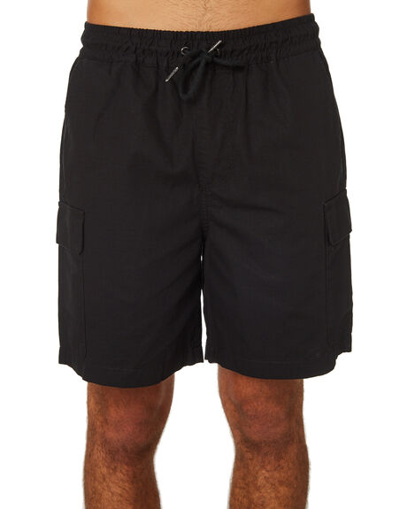 BLACK MENS CLOTHING HUFFER SHORTS - MST83S5601BLK