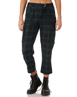 GREEN COMBO WOMENS CLOTHING FREE PEOPLE PANTS - OB8233013022