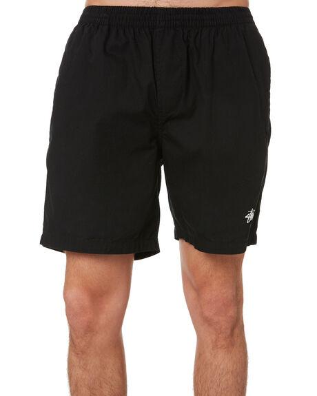 BLACK MENS CLOTHING STUSSY SHORTS - ST091601BLCK