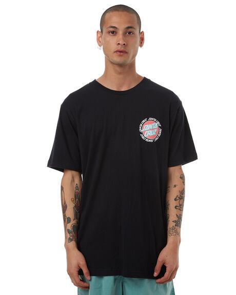 BLACK MENS CLOTHING SANTA CRUZ TEES - SC-MTD7660BLK