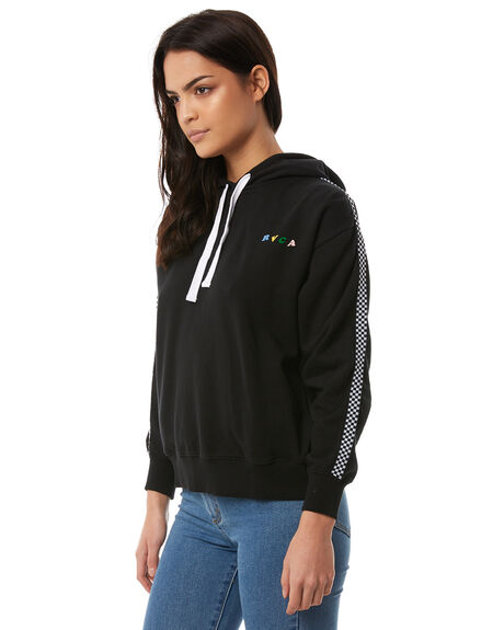 BLACK WOMENS CLOTHING RVCA JUMPERS - R284153BLACK