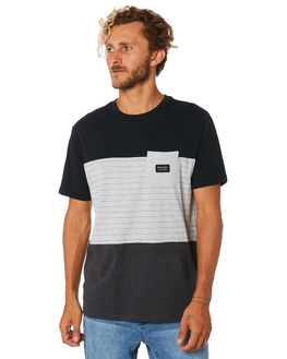 BLACK MENS CLOTHING RIP CURL TEES - CTESB20090