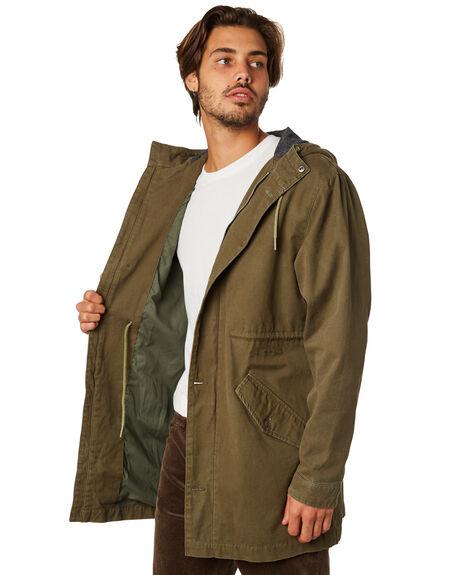 OLIVE MENS CLOTHING RHYTHM JACKETS - JAN19M-JK03-OLI