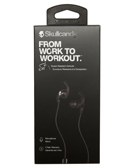 BLACK BLACK WHITE MENS ACCESSORIES SKULLCANDY AUDIO + CAMERAS - S2MEY-L670BBW