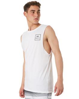 WHITE MENS CLOTHING RVCA SINGLETS - R151012WHT