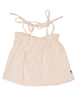 LINEN BLUSH KIDS GIRLS SWEET CHILD OF MINE TOPS - SP18BONNIETPBLSH